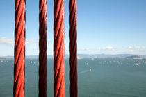 Red cables of the Golden Gate Bridge - San Francisco, California von Jess Gibbs
