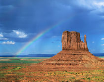 Rainbow Over Monument Valley by Paul Lemke