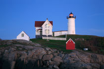The Nubble Light At Night by Paul Lemke
