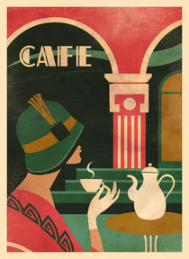 Café Art Deco I by Benjamin Bay