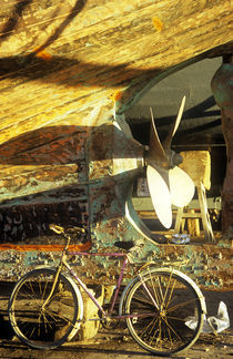 Essaouira bicycle von Mike Greenslade