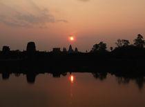 Dawn at Angkor Wat by Phil  Caldwell