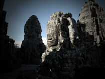 Sunrise at the Bayon by Phil  Caldwell