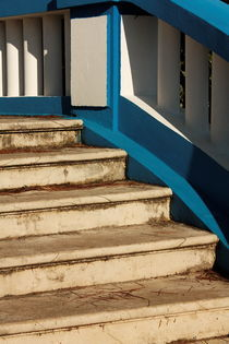 The blue stairs. by Gordan Bakovic