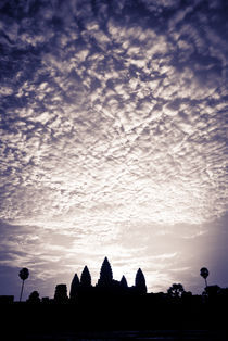Angkor Wat - Low Angle Purple Sky by Russell Bevan Photography