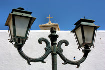 Mykonos Street Lamps by Ian C Whitworth