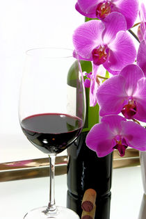 Red Wine & Orchids by Ian C Whitworth