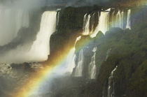 Iguassu Ralls with Rainbow by Wolfgang Kaehler
