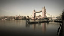 London. Tower Bridge and River Thames. by Alan Copson