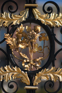 London. Kensington Palace. Ornate Gate. by Alan Copson
