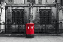 London, Dean's Yard. Post Box. by Alan Copson