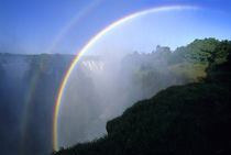 Rainbow over Victoria Falls by Wolfgang Kaehler