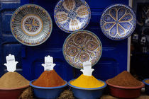 Colorful Spices and Plates by Wolfgang Kaehler