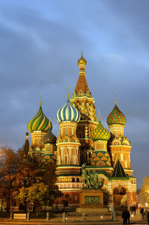 St. Basil's Cathedral at Night von Wolfgang Kaehler