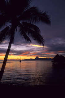 Tropical Island at Sunset von Wolfgang Kaehler