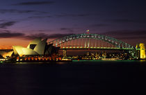 Sydney Opera House and Harbour Bridge von Wolfgang Kaehler
