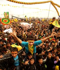 Kurdish Newroz in Diyarbakir/Southeast Turkey by Benjamin Hiller
