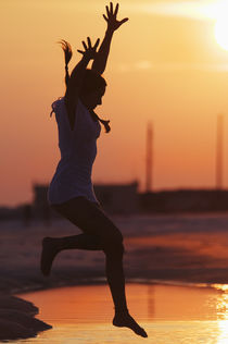Young Woman, Inspiration at Sunset by Melissa Salter