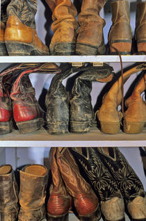 Cowboy Boots at ranch in Marion Montana by Danita Delimont