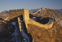Landscape of Great Wall under sunset, China von Danita Delimont