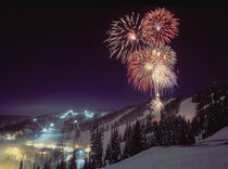 Fireworks at Big Mountain Resort in Whitefish, Montana by Danita Delimont
