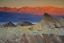 Mornings first light on Zabriskie Point and Death Valley Below, California by Danita Delimont