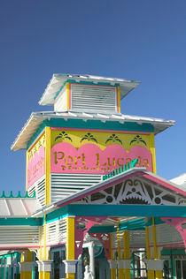 BAHAMAS-Grand Bahama Island-Lucaya: Port Lucaya Marketplace- Entranceway / Sign von Danita Delimont