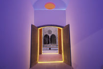Europe, Spain, Barcelona, Lit doorway near Picasso Museum, Ciutat Vella area by Danita Delimont