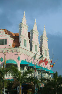 ABC Islands - ARUBA - Oranjestad: Dutch Style Architecture on LG Smith Boulevard by Danita Delimont