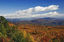 Autumn view of Southern Appalachian Mountains from Blue Ridge Parkway, Carolina by Danita Delimont