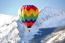 Noth America,USA,Colorado,Mt. Crested Butte,Hot Air Balloons In the Blue Sky by Danita Delimont
