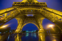 France, Paris. Eiffel Tower illuminated at night. Credit as von Danita Delimont