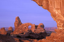 NA, USA, Utah, Arches National Park. Turret Arch by Danita Delimont