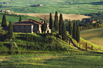 Europe, Italy. A pastoral Tuscany villa in Val d'Orcia. Credit as by Danita Delimont