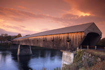 The longest covered bridge in the United States located in Windsor by Danita Delimont