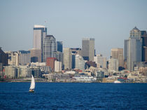 Seattle, Washington. Skyline of downtown from the ahrbour von Danita Delimont