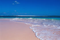 Pink sand beach at Conch Bay, Cat Island, Bahamas. von Danita Delimont