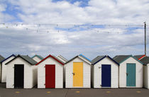 Colorful bath houses in Paignton in  England Devon called the English Rivera by Danita Delimont