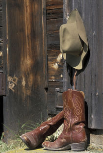 NA, USA, Montana Cowboy boots and hat by Danita Delimont