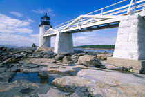 NA, USA, Maine, Port Clyde.  Marshall Point lighthouse. von Danita Delimont