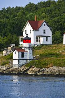Viewing light houses while sailing down the Keybeck River.    by Danita Delimont