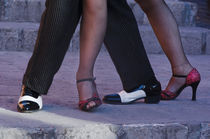 Mexico, San Miguel de Allende, Tango Dancers' Feet.  Credit as by Danita Delimont