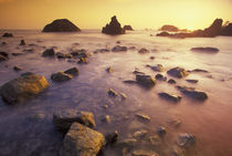 NA, USA, California, Northern California Sunset along Crescent Beach von Danita Delimont