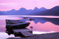 North America, USA, Montana, Glacier National Park. Lake McDonald at dawn by Danita Delimont