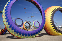 WA, Long Beach, International Kite Festival, Circoflex kites by Danita Delimont