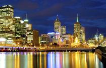 Melbourne, Australia. A nighttime in Melbourne, by Danita Delimont
