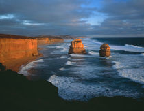 Evening light on the Twelve  Apostles, southern coast of Victoria, Australia by Danita Delimont