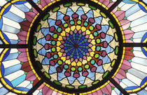 Hungary, Budapest, Museum of Applied Arts. Stained glass window. von Danita Delimont