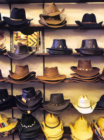 Wide variety of cowboy hats in Old Town Albuquerque, NM. by Danita Delimont