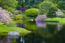 USA, Maine, Northeast Harbor. View of Asticou Azalea Gardens. Credit as von Danita Delimont